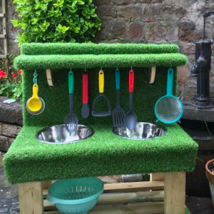 Grass Covered Mud Kitchen