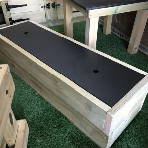 Chalkboard Wooden Storage Bench