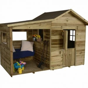 Wooden Playhouse With Storage