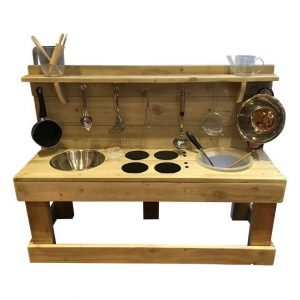 Triple Trouble Wooden Mud Kitchen