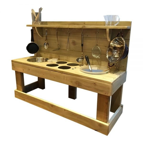 Wooden Triple Trouble Mud Kitchen