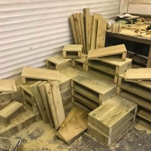 Small Wooden Building Blocks