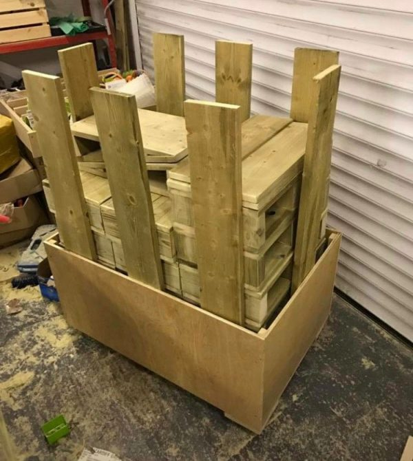 A Collection Of Wooden Infant Building Blocks