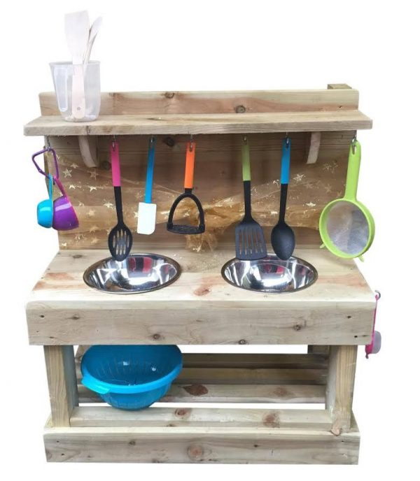 Classic Double Wooden Mud Kitchen
