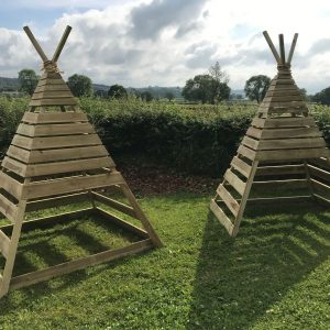 Two Wooden Large Teepees