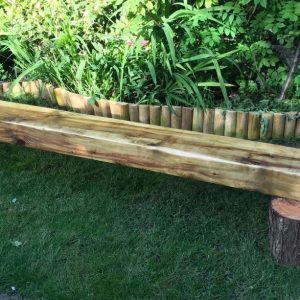 rustic sleeper bench