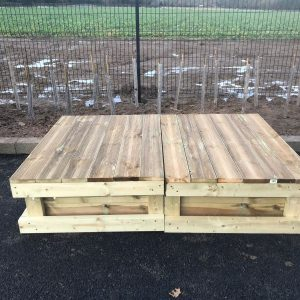 Sandpit With Wooden Cover