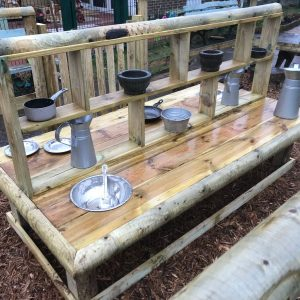 Wooden Mud Kitchen Island