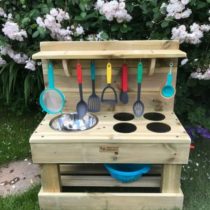 Mini Wooden Mud Kitchen