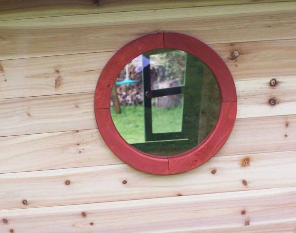 Window In Wooden Playhouse