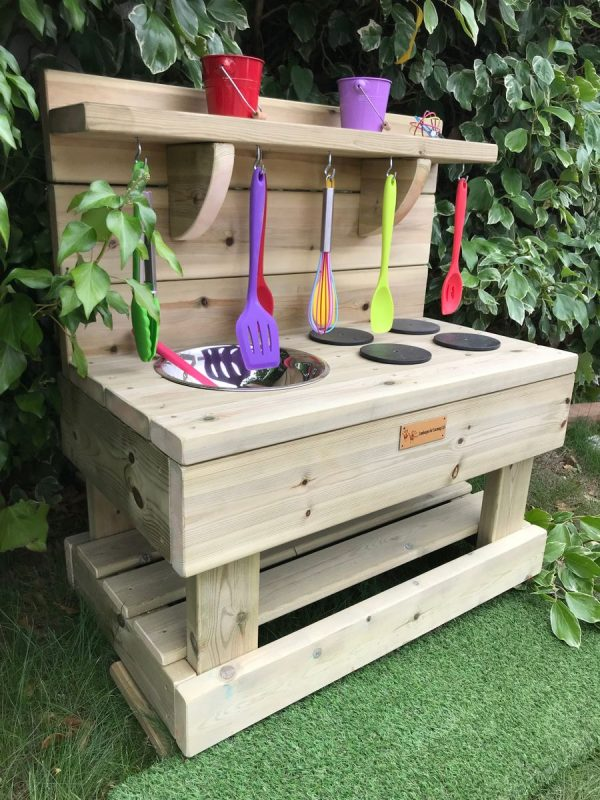 Picture Of A Wooden Mud Kitchen