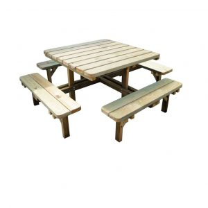 Outdoor Wooden Picnic Table