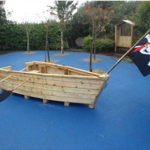 Wooden Pirate Ship For Kids