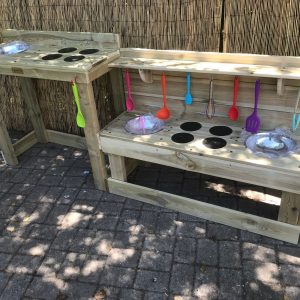 Wooden Wheelchair Accessible Mud Kitchen