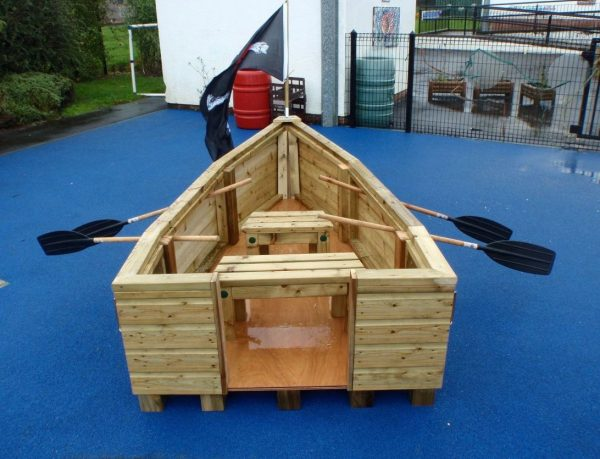 Wooden Pirate Ship With Seating