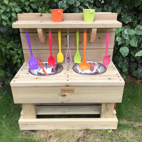 Small Mud Kitchen With Tools