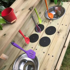 Wooden Deluxe Triple Trouble Mud Kitchen