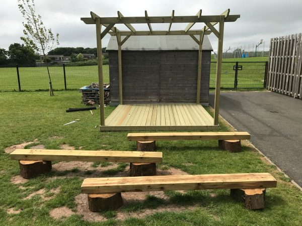 Wooden Stage For Kids