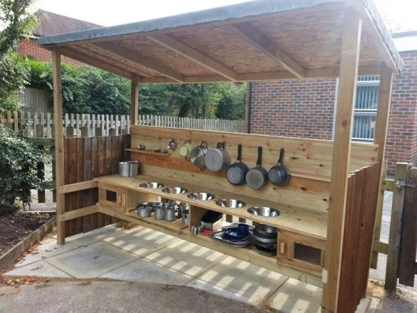 Bespoke Wooden Mud Kitchen