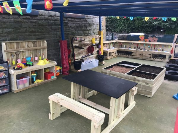 Sheltered Play Area For Children