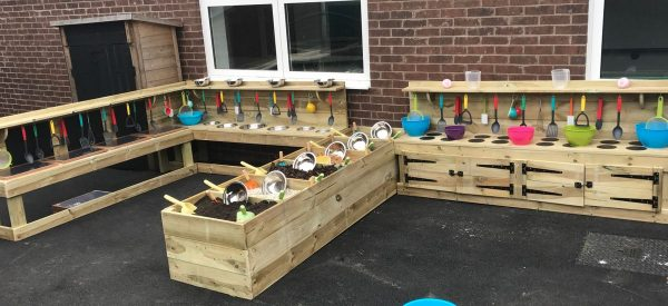 Extra Large Wooden Mud Kitchen