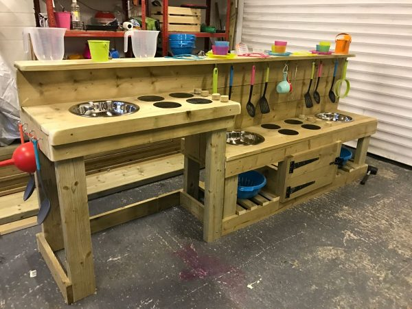 Wooden Mud Kitchen With Disabled Access