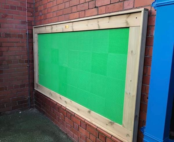 Building Block Wall Panel In Playground