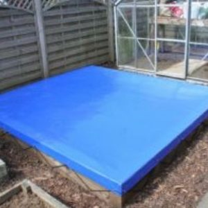 Wooden Sandpit With Blue UPVC Cover