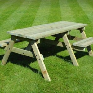 Wooden Disabled Access Picnic Bench