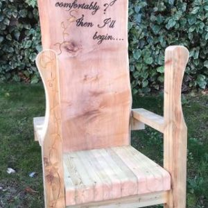 Large Wooden Bespoke Story Telling Chair