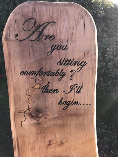 Writing On Wooden Chair