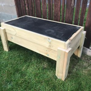 Raised Sandpit Chalkboard Table