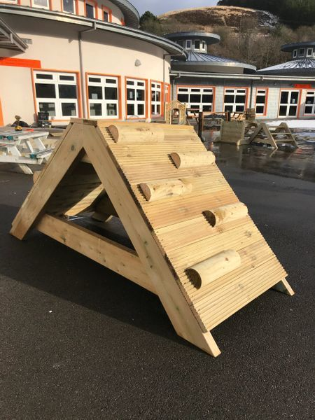 Wooden Climbing Frame With Steps
