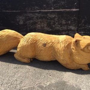 Squirrel Wooden Seat