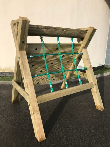 Wooden Rope Climbing Frame