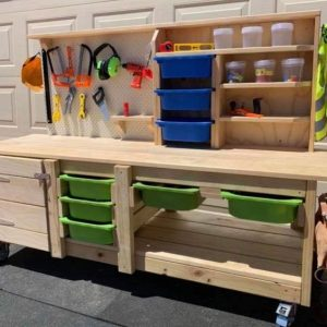 Wooden Workbench For Children