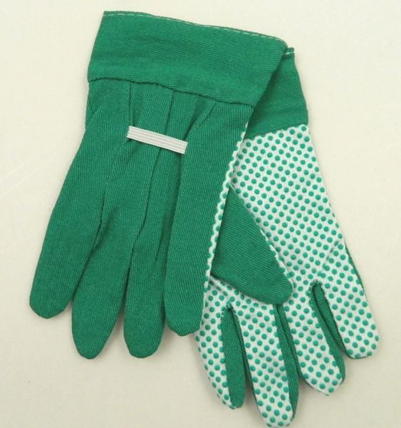 Green Fabric Gloves