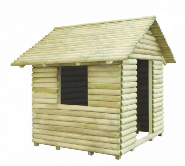 Side View Of Estep Wooden Lodge Playhouse