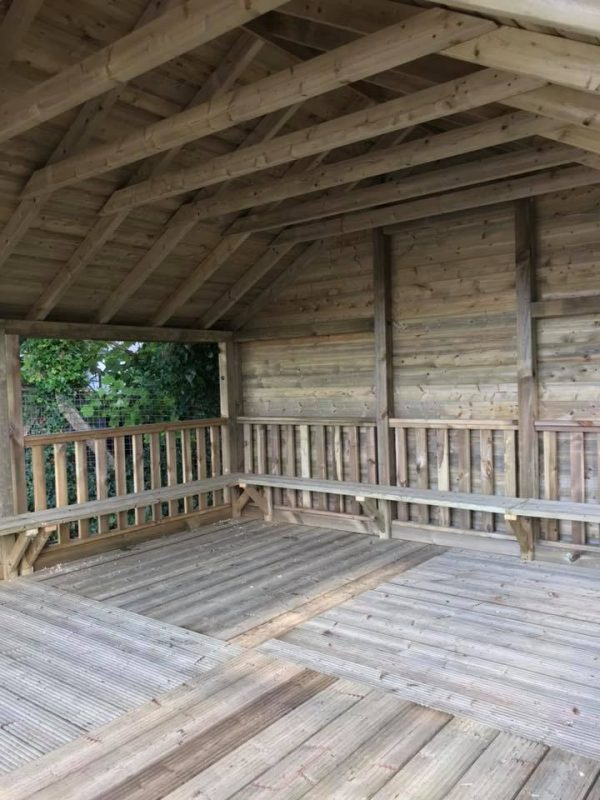 Inside Wooden Sycamore Outdoor Classroom