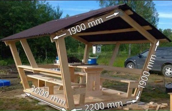 Wooden Sheltered Picnic Area