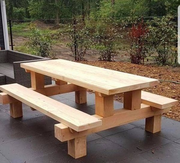 Sturdy Wooden Picnic Bench
