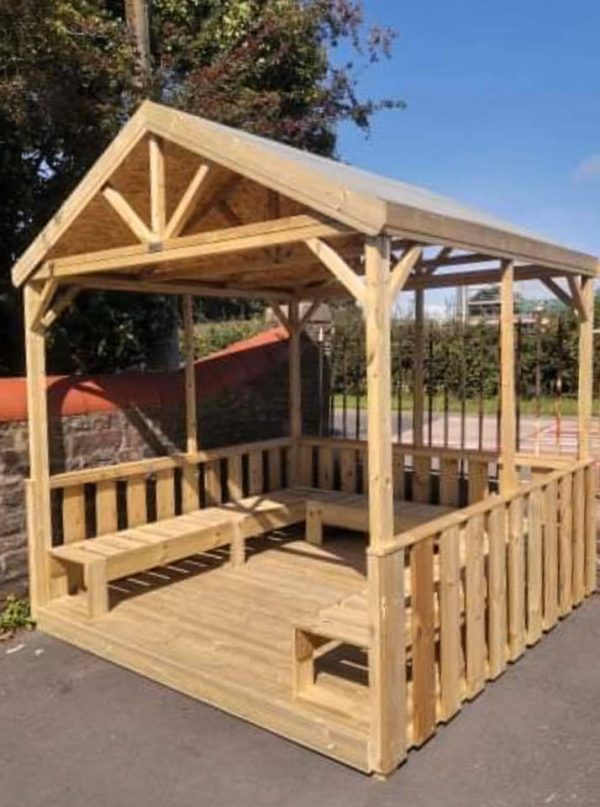 Wooden Open Outdoor Gazebo