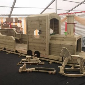 Wooden Steam Train For Kids