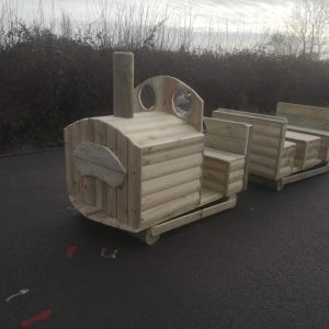 Wooden Train With Carriage For Children