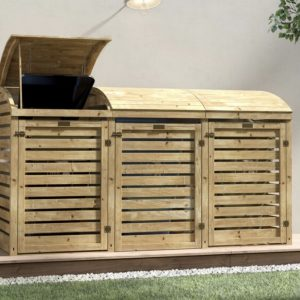 Outdoor Wooden Bin Storage