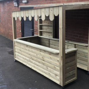 Wooden Outdoor Kiosk