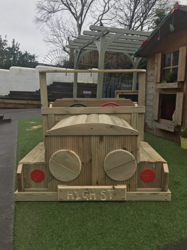 Wooden Car Seating Area