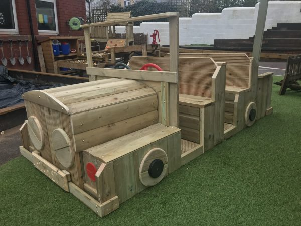 Wooden Car Seating With Steering Wheels