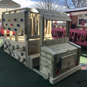 Wooden Truck Play Area For Kids