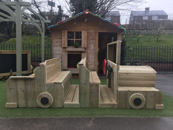 Outdoor Wooden Car Seating Area
